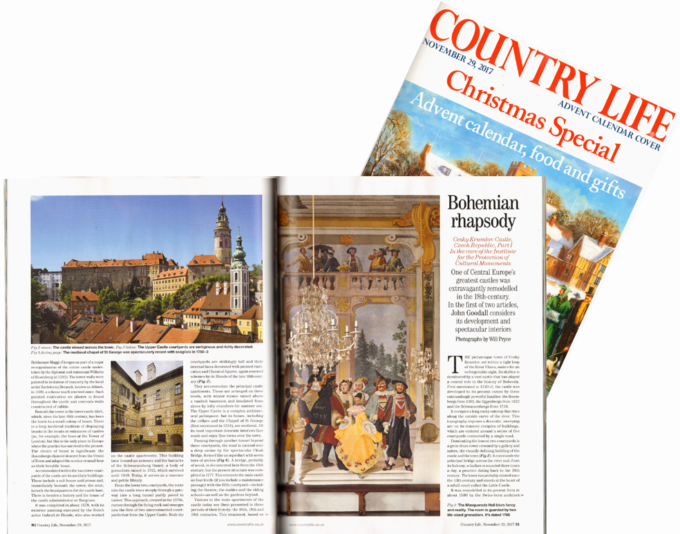 Country Life Magazine: a two-part article on the Castle of Český Krumlov